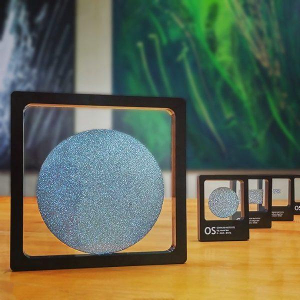 Osmium-Disks stehen in einer Reihe