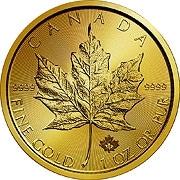 Die Goldmünze verkörpert eine Unze