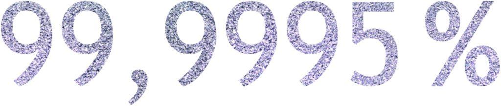Die Reinheit eines jeden kristallenen Osmium-Stücks beträgt 99,9995 %