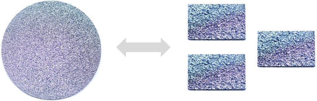Eine Osmiumdisk lässt sich zu mehreren Barren des Edelmetalls tauschen und andersherum.