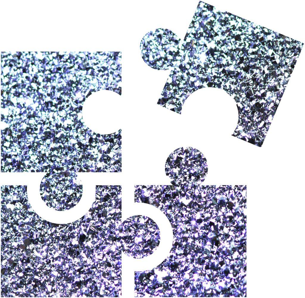 Als Puzzle mehrere Faktoren kann man den Bildungsprozess einer Preises sehen.