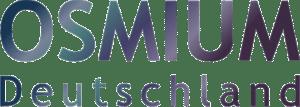 Osmium Deutschland Schriftzug mit farblicher Schattierung