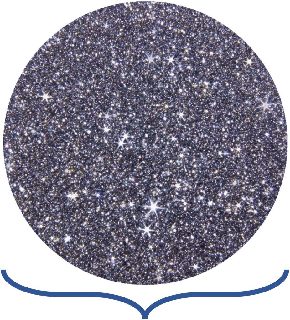 Eine Osmium-Disk symbolisiert einen Prozess zu Erklärungszwecken