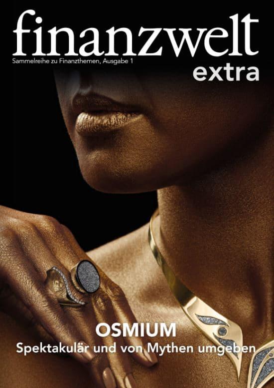Titelbild der Extraausgabe der finanzwelt zum Thema Osmium