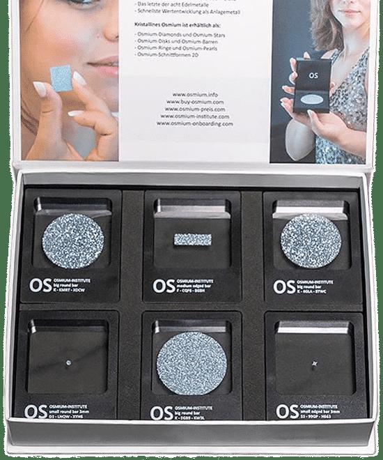 Osmium-DIsks als Sammelbox als hochwertiges Investment