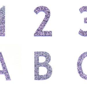 Produktbilder von Zahlen und Buchstaben aus Osmium