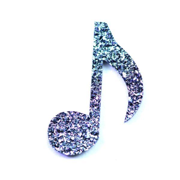 Eine Musiknote aus Osmium geschnitten zählt zu den beliebten Symbolen