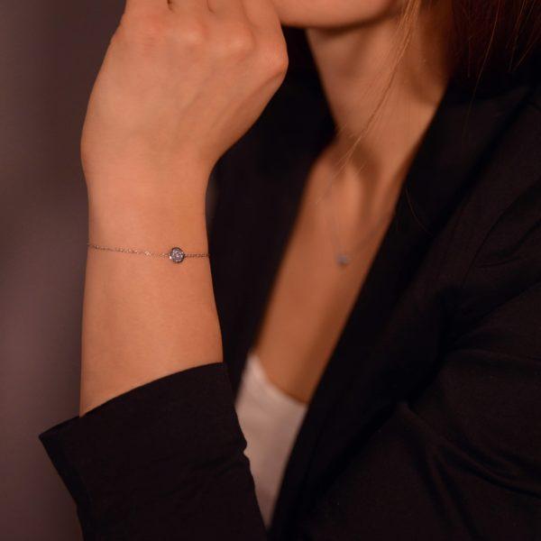Osmium Schmuck Noblesse Armband Ronde Platin Model A