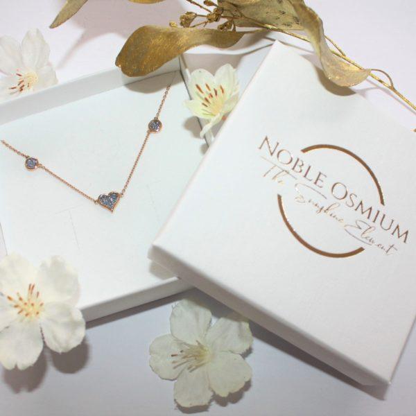 Osmium Schmuck Noblesse Collier Deluxe Gold Schachtel