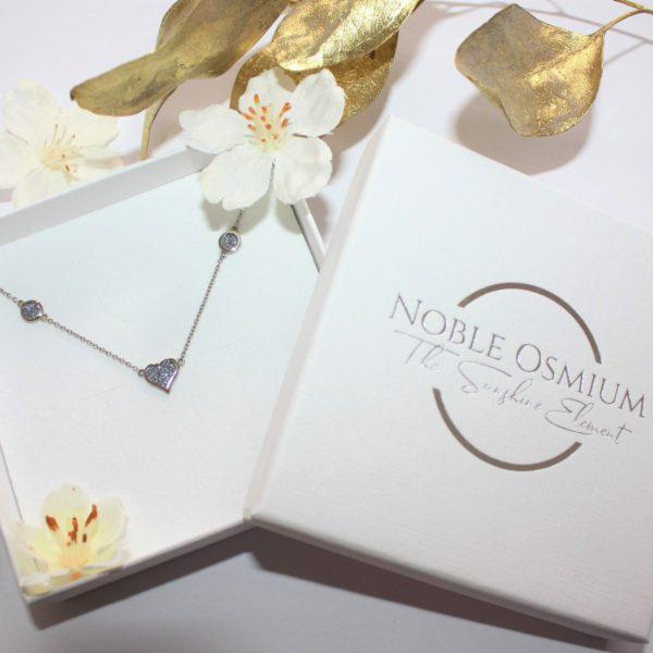Osmium Schmuck Noblesse Collier Deluxe Platin Schachtel