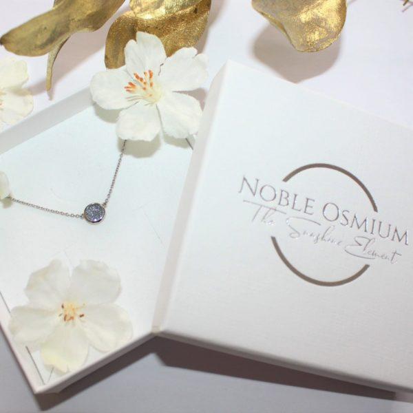Osmium Schmuck Noblesse Halskette Ronde Platin Schachtel