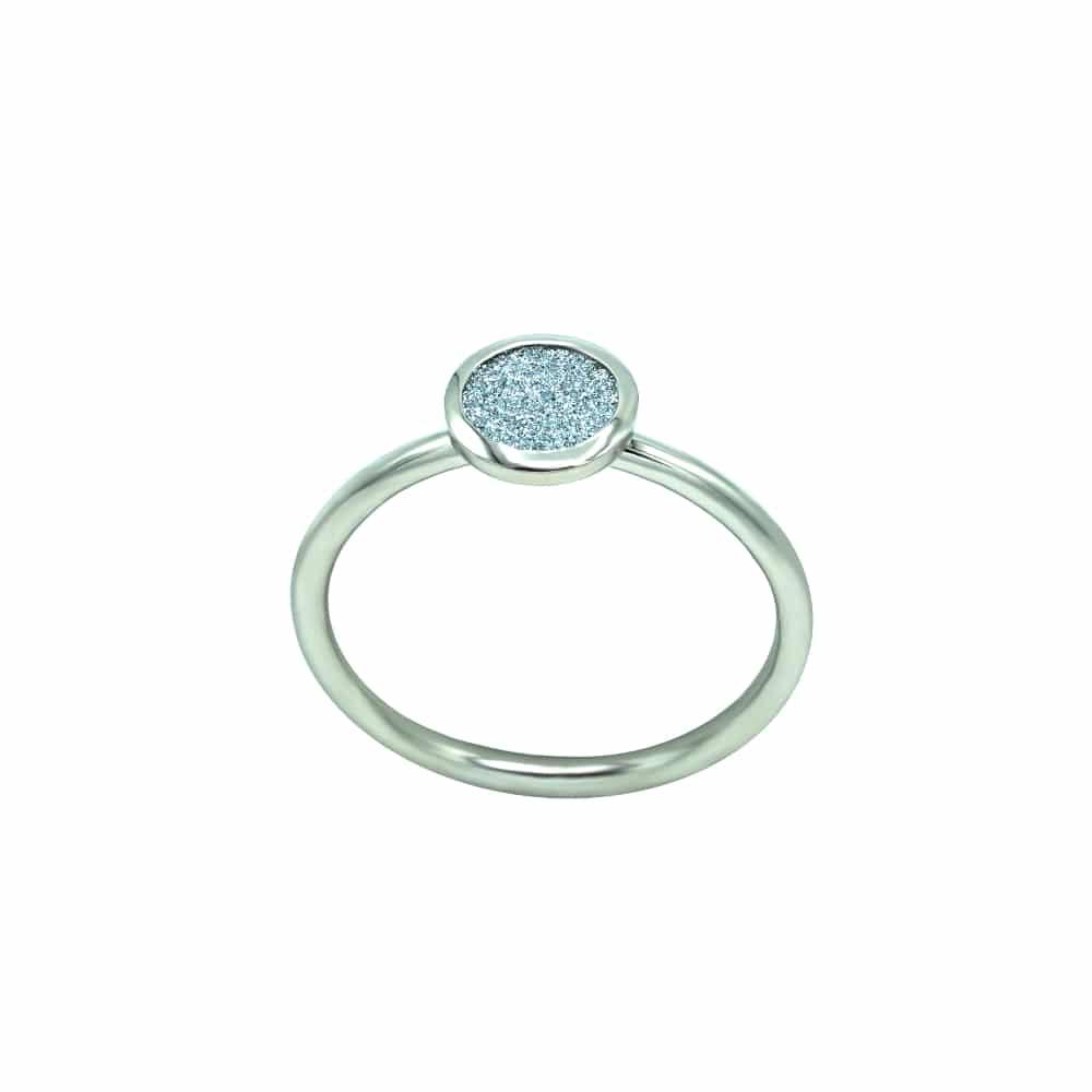 Ein Fingerring als Schmuckstück mit Osmium-Diamond eingearbeitet